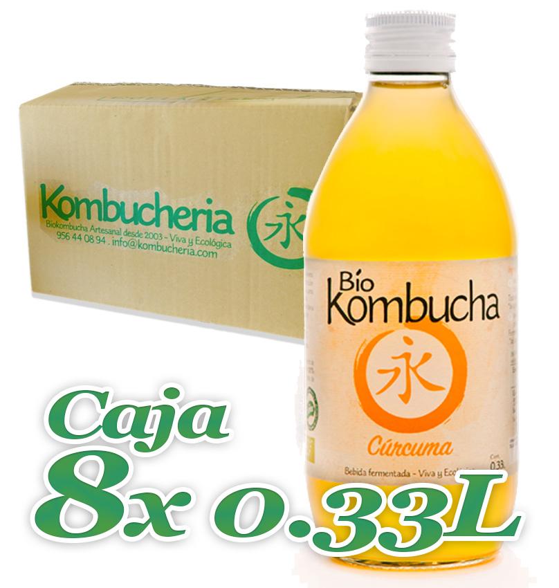 Caja 8x033 Vidrio Bio Kombucha Curcuma