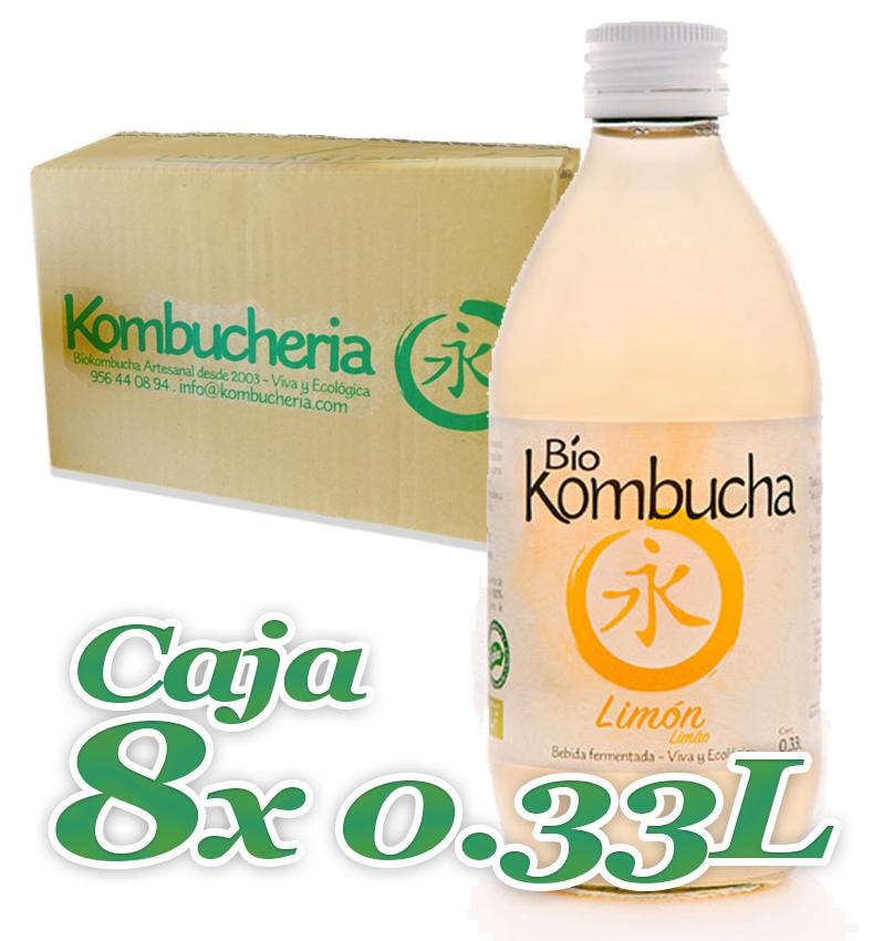Caja 8x033 Vidrio Bio Kombucha Limon