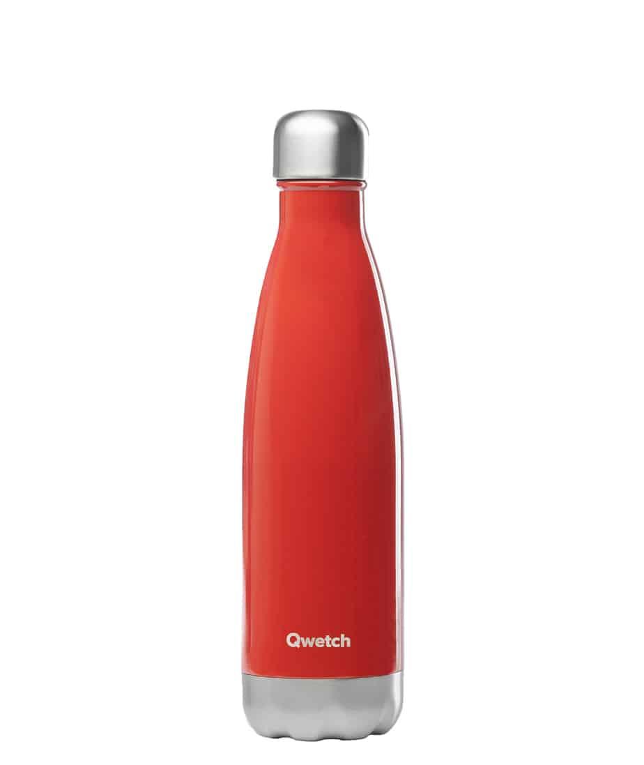 Botella Isotermica Acero Inox Rojo Brillante Qwetch