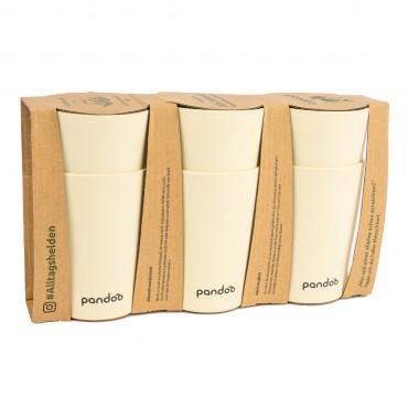 Set 6 Vasos De Bambu Blancos Pandoo