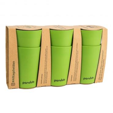 Set 6 Vasos De Bambu Verdes Pandoo