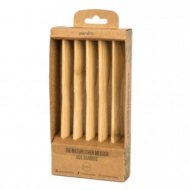 Set 5 Cuchillos Reutilizables De Bambu Pandoo