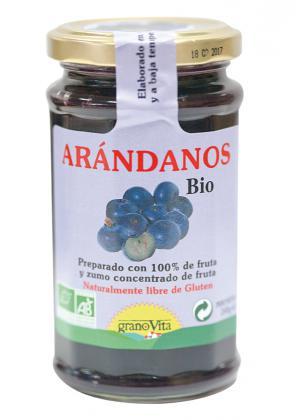 Mermelada De Arandanos 240 Granovita Bio